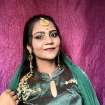 Indian Bridal Look: Green Smokey Eyes