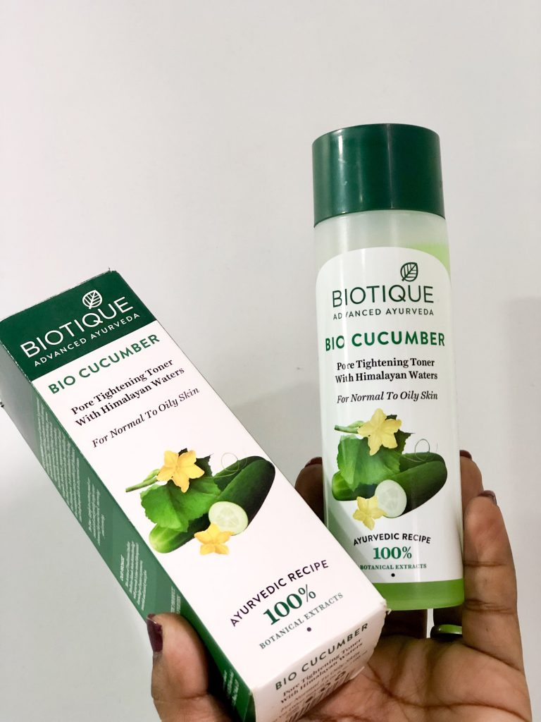 Biotique Bio Cucumber Pore Tightening Freshener Review