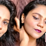 Wine Lips & Winged Liner Look With MINISO